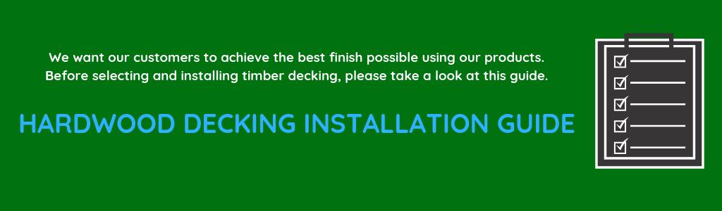 Hardwood Decking Installation guide